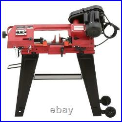 Metal Cutting Bandsaw Rolling Floor Stand Cast Iron Base Heavy Duty Shop Tool
