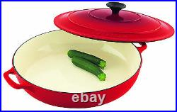 NEW Chasseur Round Cast Iron Casserole 30cm 2.5 L Inferno Red (RRP $589)