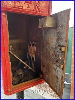 ORIGINAL ROYAL MAIL Red POST OFFICE BOX GENUINE CAST IRON POST BOX ER