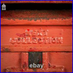 Original GR VI Cast Iron Wall Mounted Post Box with Key