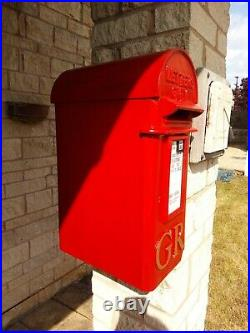Original Genuine King George V Royal Mail Post Box Wall Inset Mounted Cast Iron