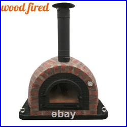 Outdoor wood fired Pizza oven 100cm Prestige red brick, cast iron door
