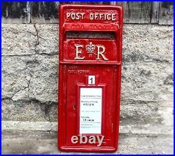 Post Box Letterbox ER Front Cast Iron Mail Box GR VR Option on Red White & Black
