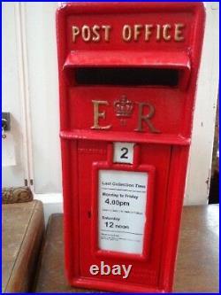 Post Box / Replica Royal Mail ER Red Post Box