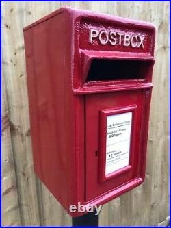 Postbox Letter Post Box and Stand Cast Iron Post Office Red Medium
