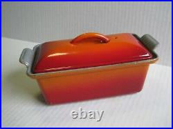 Rare HTF Le Creuset #20- Red/Orange Enameled Cast Iron Pate Terrine/ Loaf Pan
