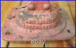 Red Jacket Melon Top Davenport Iowa Hand Antique Farm Water Well Pump Red Rare