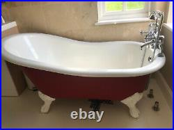 Roll Top bath red however can be painted any colour
