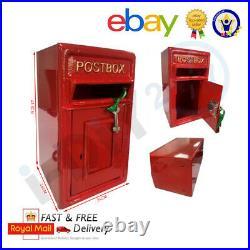Rolson Floor Mounting Cast Iron Post Box Postal Box Red British Mailbox