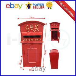 Rolson GR Post Box Cast Iron Postal Box Red British Mailbox LARGE Floor Mounting