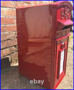 Royal Mail Cast Iron Pillar Red GR PostBox Option on Stand/Wall Mount ER VR