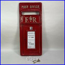 Royal Mail Cast Iron Royal Mail Post Box Letterbox ER Post Office Red Front ONLY