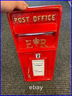 Royal Mail Front Facia Cast Iron Royal Mail Postbox Letter Box ER FRONT ONLY