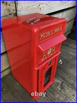 Royal Mail Genuine 1980s ER cast iron Front GPO Post Box Machan Foundry RED