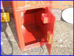Royal Mail Post Box Cast Iron Letter Box Heavy With 2 Keys Post Office Red NEW