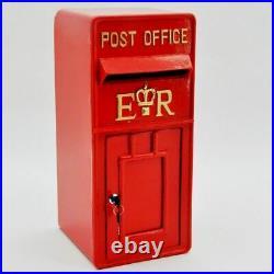 Royal Mail Post Box ER II Pillar Box Red Cast Iron Post Office Letter Box