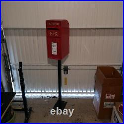 Royal Mail Post Box + STAND + KEY Heavy Cast Iron Replica / New Boxed