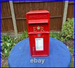 Royal Mail Post Office GPO Genuine Original Cast Iron fronted ER Post Box 1990s