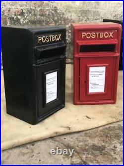 Royal Mail Postbox Cast Iron Letter Box Pillar Option on Stand/Wall Mount ER GR