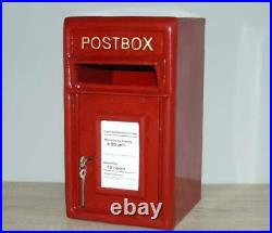 Royal Mail Postbox Cast Iron Letter Box Post Box, Red, Black or White