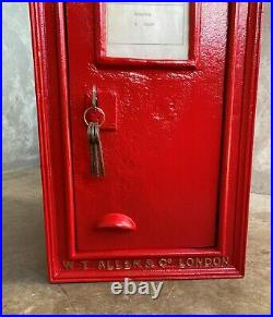 Royal Mail VR Large Cast Iron Wall Mounted Letter Box Red Victorian UKAA