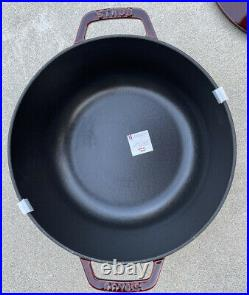 Staub Cast Iron 3.75 Qt. Essential French Oven Red Rooster Dutch Oven Grenadine