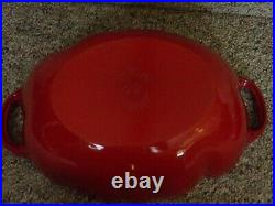 Staub Cast Iron Enameled Dutch Oven Red Tomato Cocotte