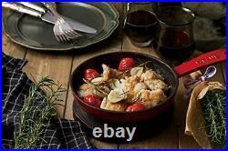 Staub Skillet Cherry 16cm Frying Pan Hollow Cast Iron IH Japan