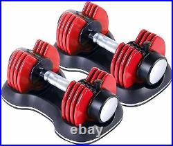 Strongology Adjustable Smart Dumbbells Pair from 2kg to 11kg Training Weights