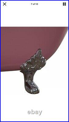 Traditional Style Double Slipper Cast Iron Bath, Red Primer Finish