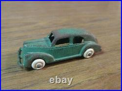 VINTAGE 1930'S HUBLEY TRANSPORT CAR HAULER CAST IRON TOY #2292 With 4 Cars