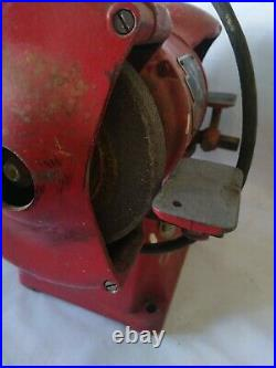 Vintage 6 inch Wolf Cast Iron Bench Grinder engineers classic tool fabrication