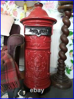 Vintage Cast Iron Post Box