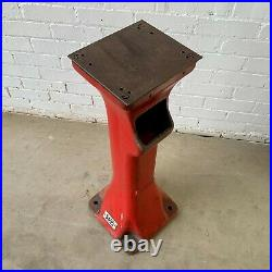 Vintage Industrial Wolf Cast Iron Machine Base Painted Red