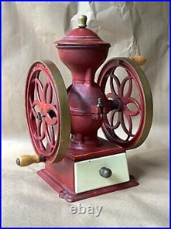 Vintage John Wright Cast Iron Coffee MILL Grinder Wrightsville Pa