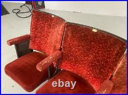 Vintage Red Cinema Seats / Theatre Seats