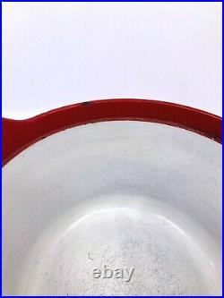 Vintage Timo Sarpaneva Rosenlew Red Cast Iron Enamel Casserole Pot READ