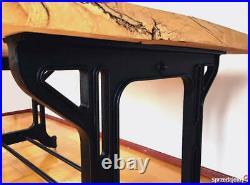 Vintage industrial cast iron Table legs Loft style. Dining table