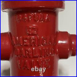 Vtg American Darling Valve 7 Cast Iron Fire Red Hydrant Salesman Sample/Award